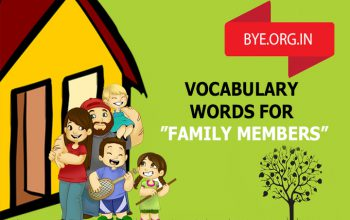 Some Vocabulary Words For Different Kinds Of Family Members.